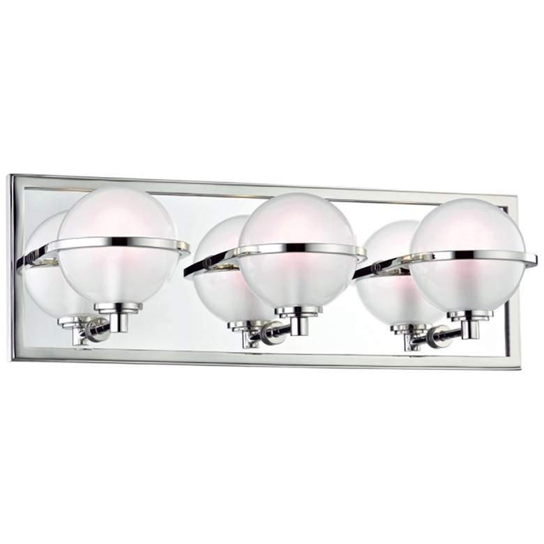 """Hudson Valley Axiom 18""""W Polished Nickel 3-LED Bath Light"""