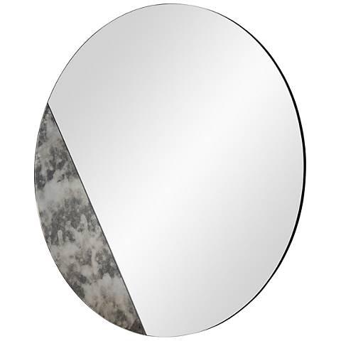 "Cella Antique Mirrored 40"" Oversized Round Wall Mirror"
