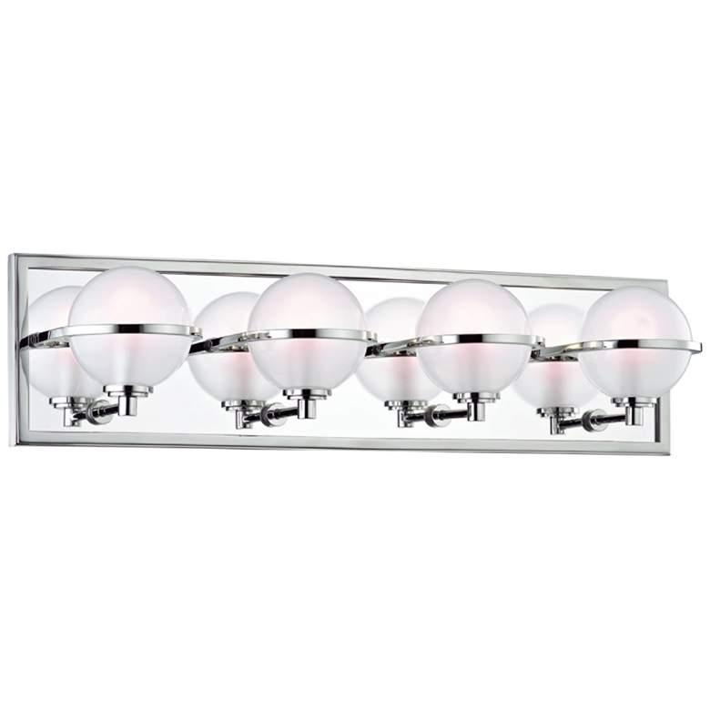 """Hudson Valley Axiom 24""""W Polished Nickel 4-LED Bath"""