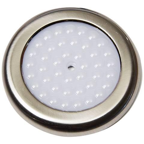 """DPK Series 3.5""""W Brushed Nickel LED Puck Light"""