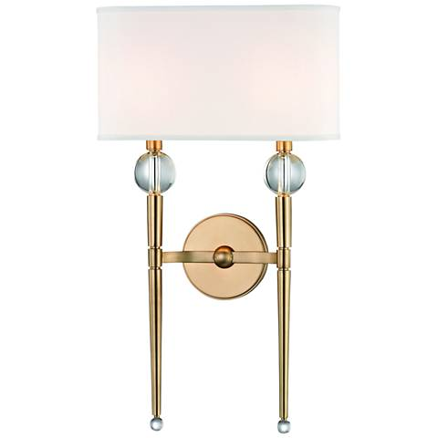 """Hudson Valley Rockland 22 1/4"""" High Aged Brass Wall Sconce"""
