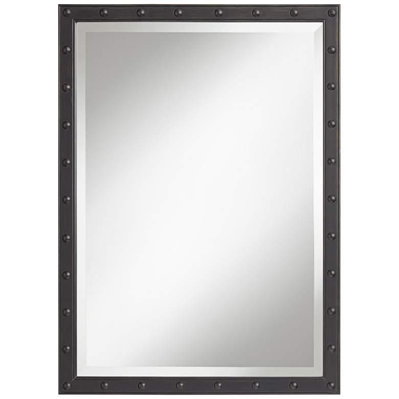 "Braddock Black 28"" x 38"" Frame Wall Mirror"