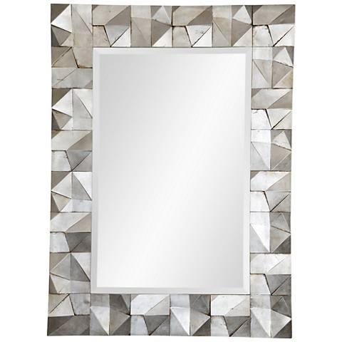 """Scape Silver Leaf 36"""" x 49"""" Wall Mirror"""