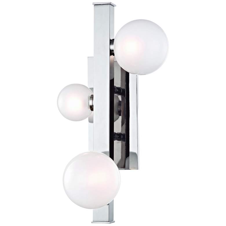 "Mini Hinsdale 17 3/4"" High Polished Nickel 3-LED Wall Sconce"