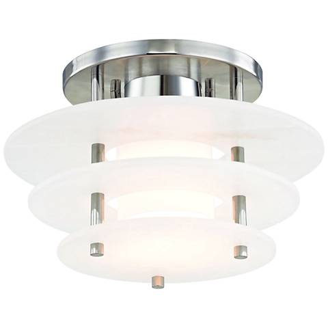 "Hudson Valley Gatsby 11 3/4"" Wide Nickel LED Ceiling Light"