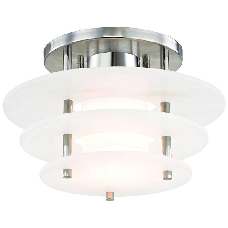 "Hudson Valley Gatsby 11 3/4"" Wide Nickel LED Ceiling Light"