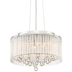 "Ashton 16"" Wide Chrome and Clear Glass Pendant Light"
