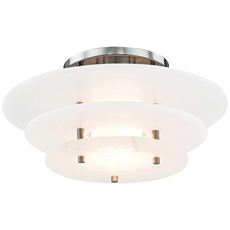 "Hudson Valley Gatsby 15 3/4"" Wide Nickel LED Ceiling Light"