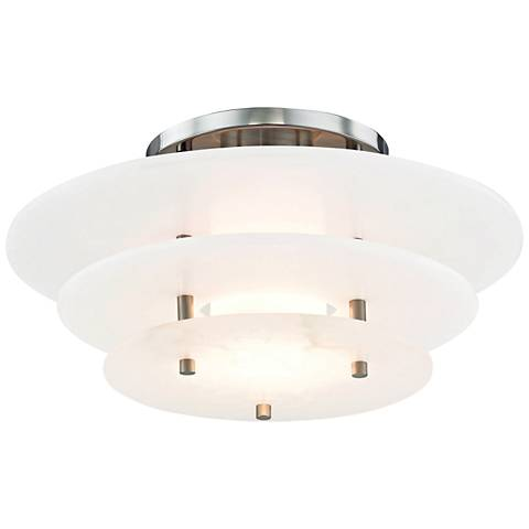 "Hudson Valley Gatsby 15 3/4"" Wide Nickel LED Ceiling Light"