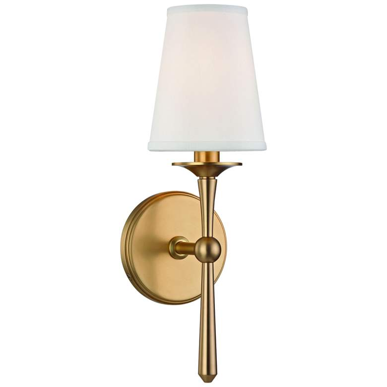 "Hudson Valley Islip 14 3/4"" High Aged Brass Wall Sconce"