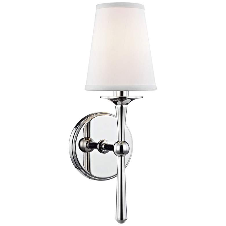 "Hudson Valley Islip 14 3/4"" High Polished Nickel Wall Sconce"