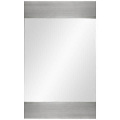 """Amrah Silver Aluminum 22"""" x 36"""" Wall Mirror"""