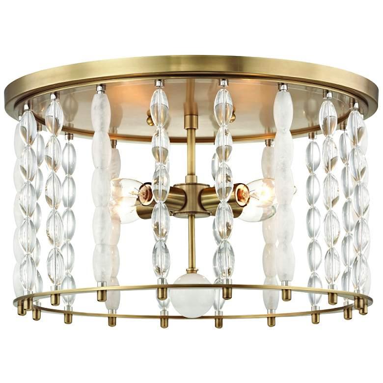 """Whitestone 16 1/2"""" Wide Aged Brass 4-Light Ceiling Light"""