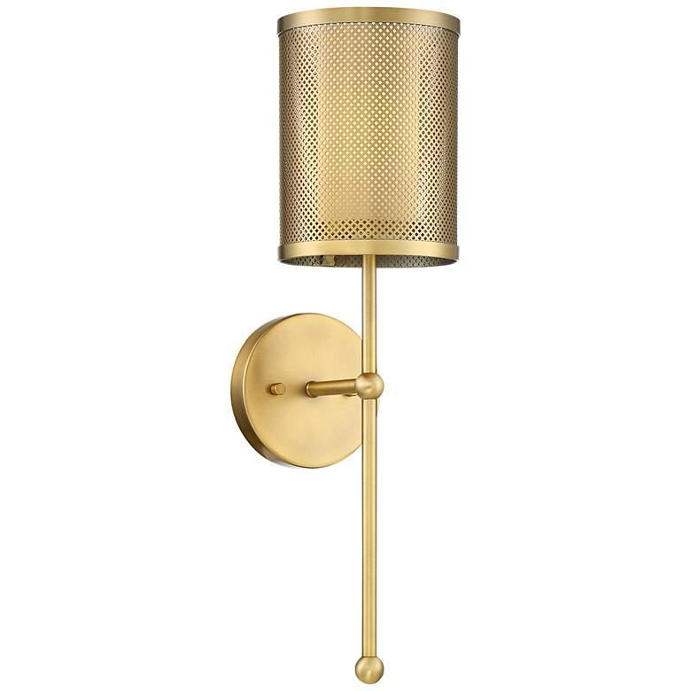"Possini Euro Vivaldi 21"" High Warm Brass Wall Sconce"