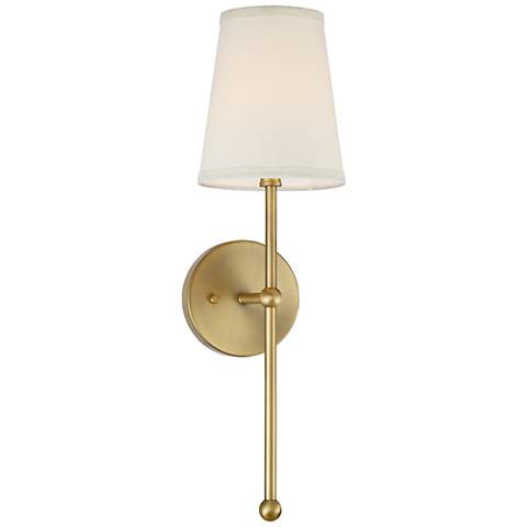 Possini Euro Elena 21 High Warm Brass Wall Sconce 24m95 Lamps Plus