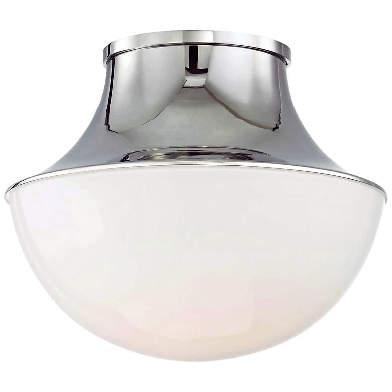 "Hudson Valley Lettie 10 3/4"" Wide Nickel LED Ceiling Light"
