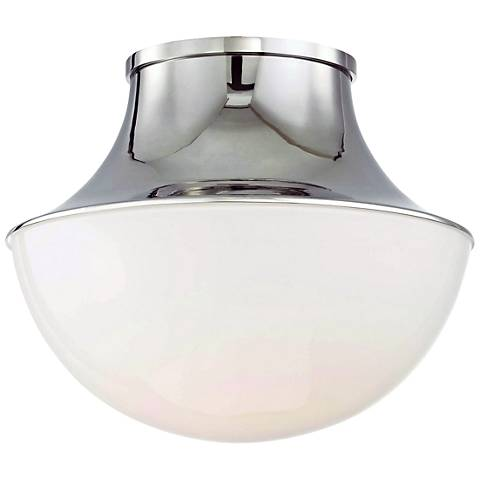 "Hudson Valley Lettie 10 3/4"" Wide Nickel LED Ceiling Light"