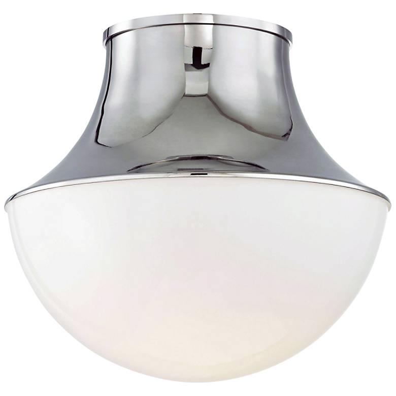 "Hudson Valley Lettie 14 3/4"" Wide Nickel LED Ceiling Light"