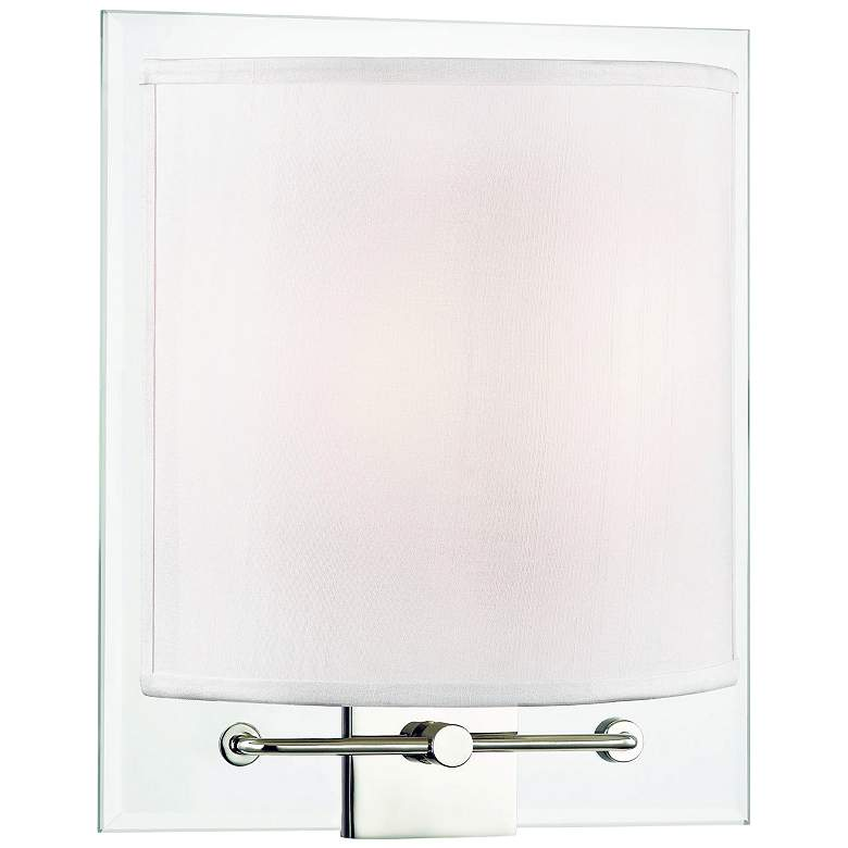 """Hudson Valley Peoria 11"""" High Polished Nickel Wall Sconce"""