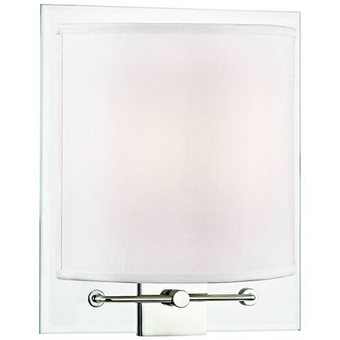 "Hudson Valley Peoria 11"" High Polished Nickel Wall Sconce"