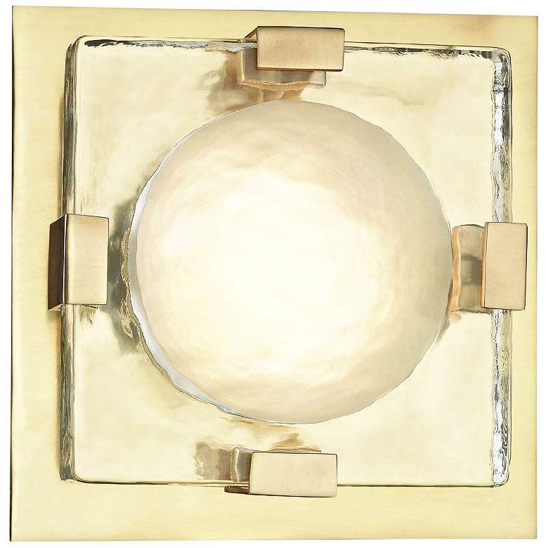 """Hudson Valley Bourne 10 3/4"""" High Aged Brass LED Wall Sconce"""