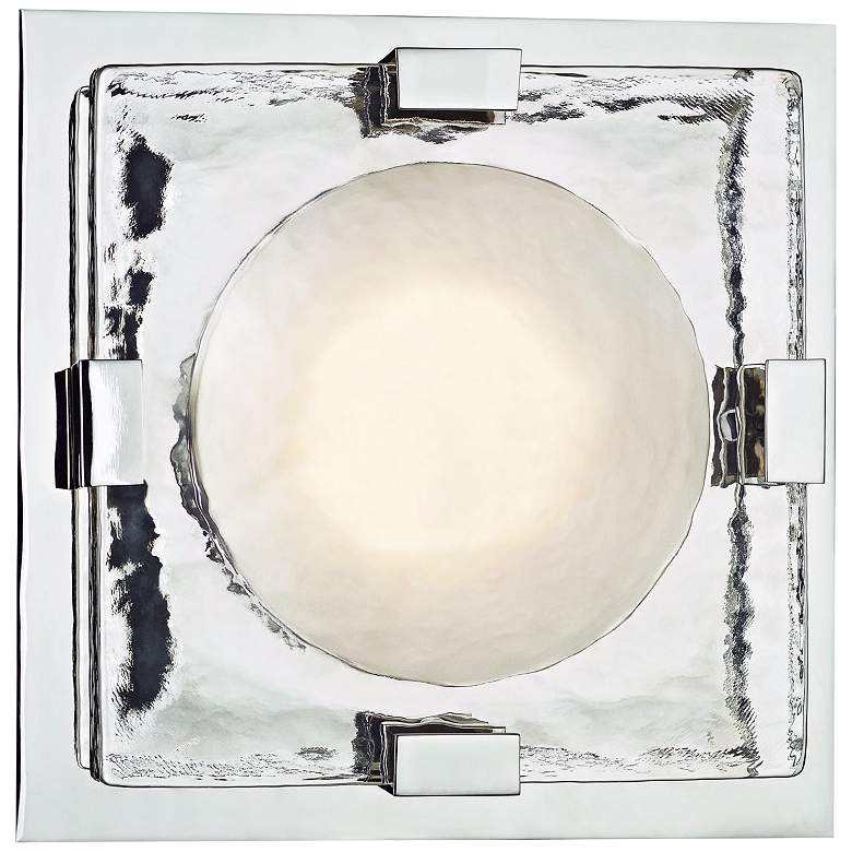 """Hudson Valley Bourne 10 3/4"""" High Nickel LED Wall Sconce"""