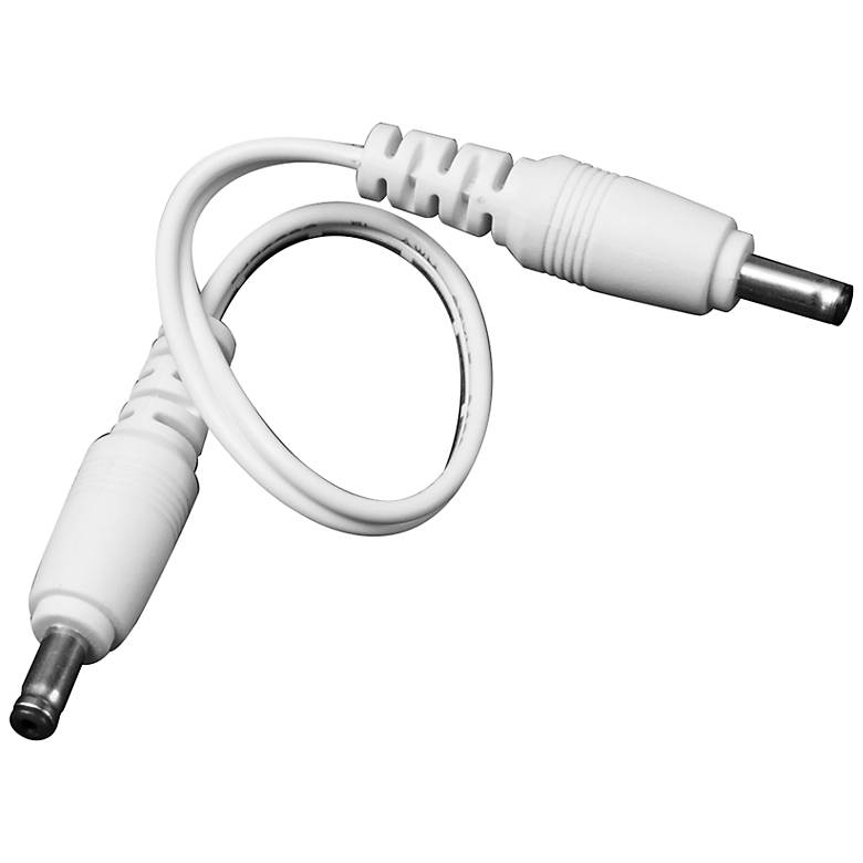 "6"" White Male to Male Cable Connector"
