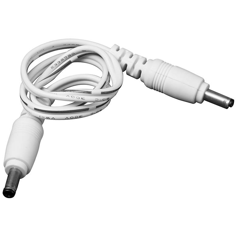 "12"" White Male to Male Cable Connector"