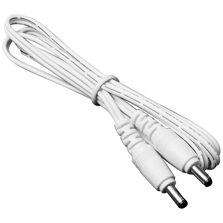 """24"""" White Male to Male Cable Connector"""
