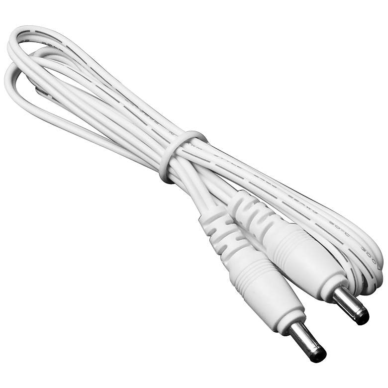 """39"""" White Male to Male Cable Connector"""