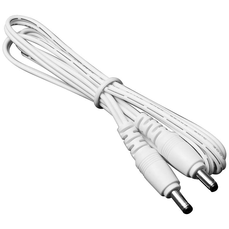 """60"""" White Male to Male Cable Connector"""