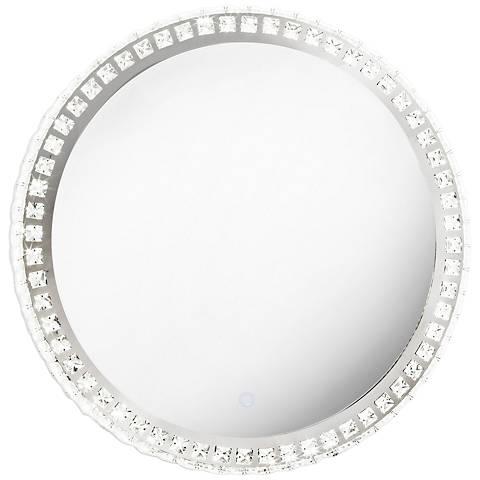 """Nova Marilyn Illuminated Chrome 23 3/4"""" Round Wall Mirror"""