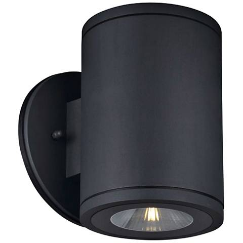 """Big Rox 7 1/4"""" High Anthracite LED Outdoor Wall Light"""