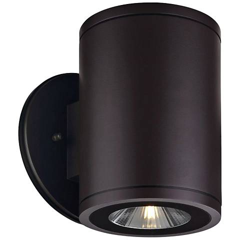 "Big Rox 7 1/4""H Architectural Bronze LED Outdoor Wall Light"