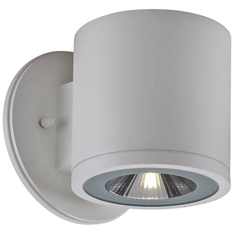 """Big Rox 5 1/4""""High White LED Outdoor Wall Light"""