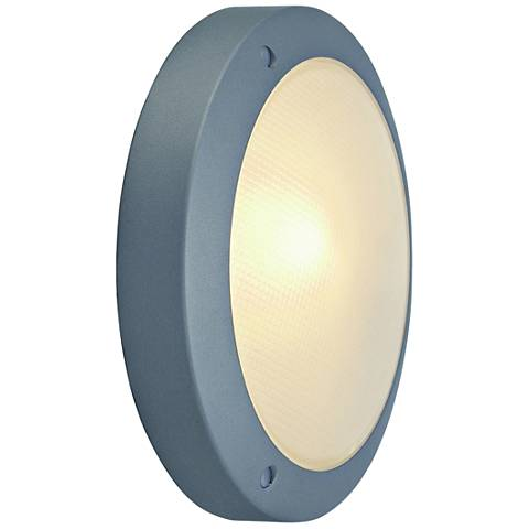 "Bulan 10 3/4"" High Silver Gray LED Outdoor Wall Light"