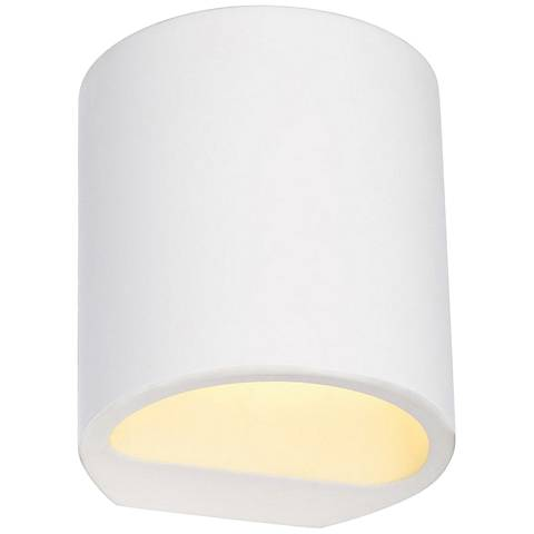 "Plastra 4 3/4"" High White Wall Sconce"