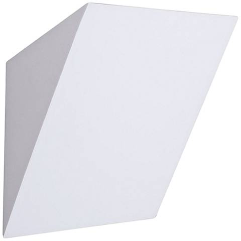 """Plastra 10 3/4"""" High White Wall Sconce"""