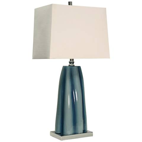 William Mangum Diamond Shoals Blue Glass Table Lamp