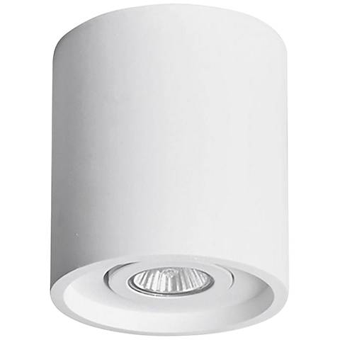"Plastra 5 1/4"" Wide White Round Ceiling Light"
