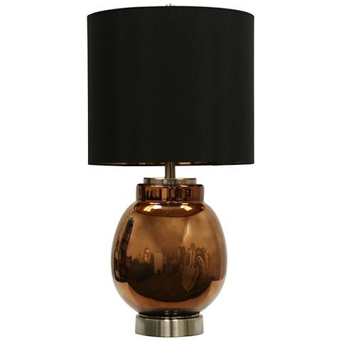 Acworth Copper Glass Table Lamp
