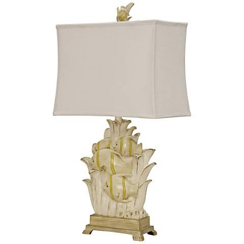 Arnic Bay Coastal Cream Table Lamp
