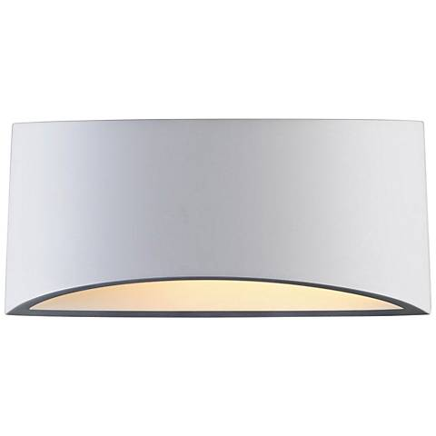 "Plastra 5 1/2"" High White LED Wall Sconce"