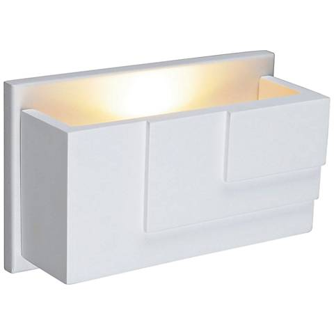 "Plastra WL-5 2 1/2"" High White LED Wall Sconce"