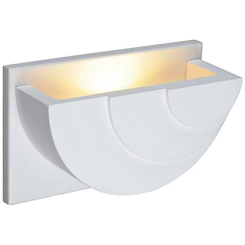 "Plastra WL-6 2 1/2"" High White LED Wall Sconce"