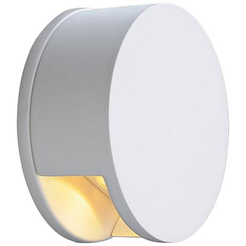 "Plastra WL-7 5"" High White LED Wall Sconce"