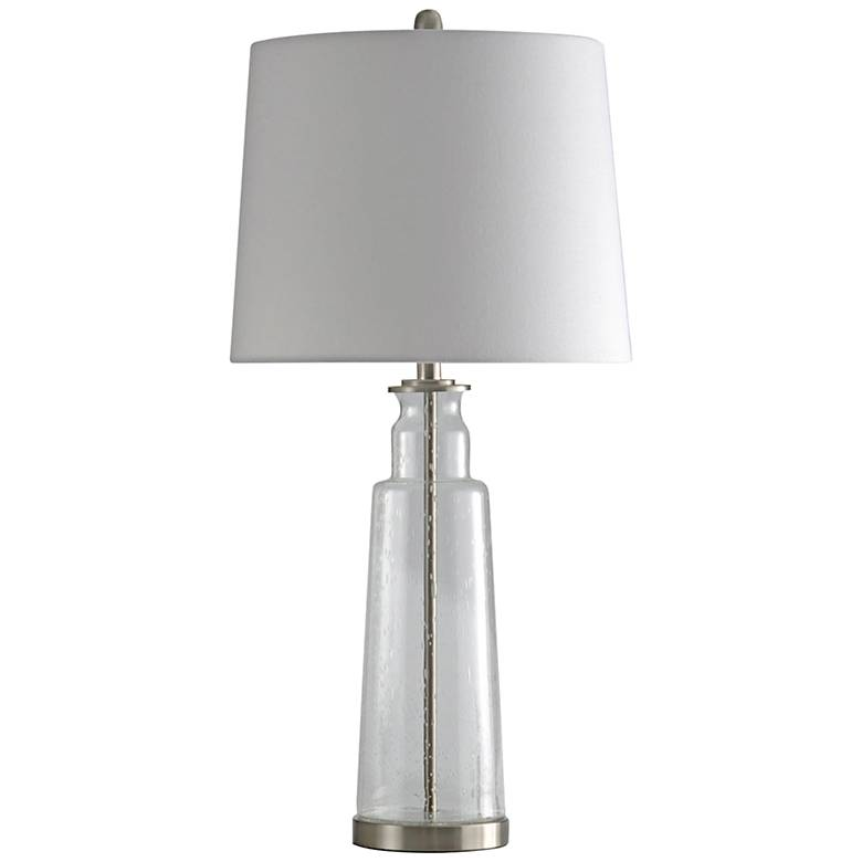Laura Clear Seeded Glass Table Lamp