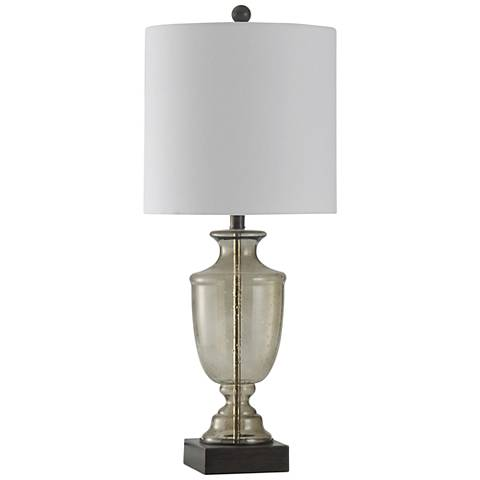 Sickles Smoke Seeded Glass Table Lamp