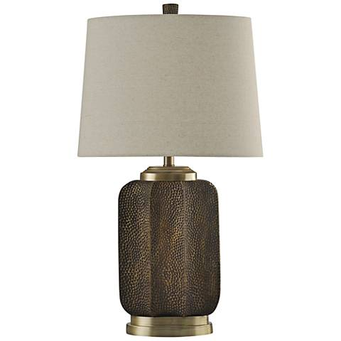 Brunswick Textured Brown Table Lamp
