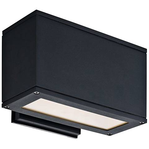 "Quad U 5""High Anthracite LED Outdoor Wall Light"